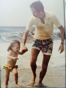 My own seaside romp with my father, circa 1978. Love this picture. :)