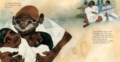 """Grandfather Gandhi"" by Arun Gandhi & Bethany Hegedus & Evan Turk"