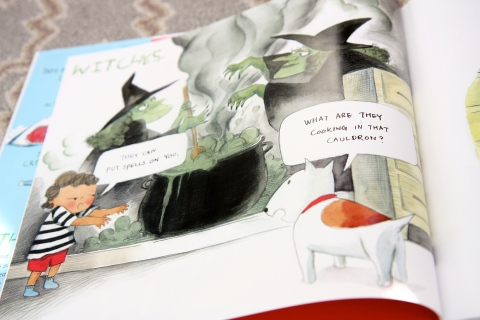 """The Fun Book of Scary Stuff"" by Emily Jenkins & Hyewon Yum"