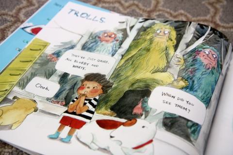 """The Fun Book of Scary Stuff"" by Emily Jenkins & Hyewon Yum"